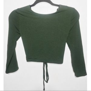 Long sleeve Caged Forever 21 Crop Top